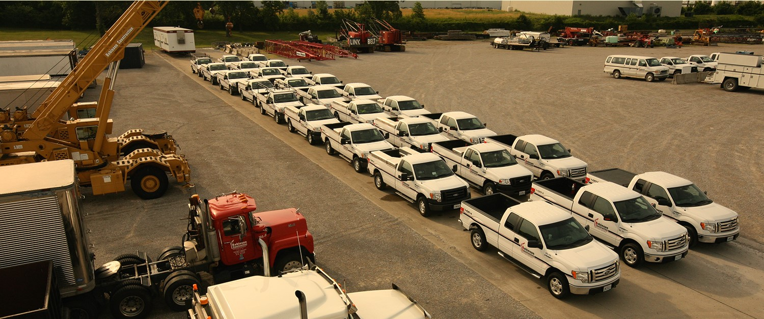 fleet of Robinson trucks
